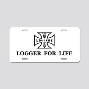 logger for life Aluminum License Plate