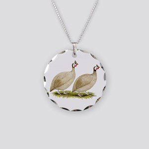 Guineas Buff Dundotte Fowl Necklace Circle Charm