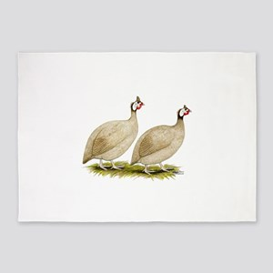 Guineas Buff Dundotte Fowl 5'x7'Area Rug