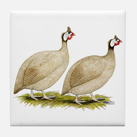 Guineas Buff Dundotte Fowl Tile Coaster