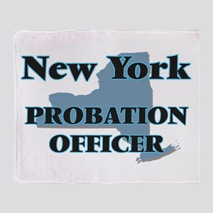 New York Probation Officer Throw Blanket