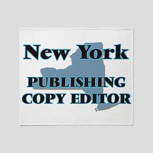 New York Publishing Copy Editor Throw Blanket