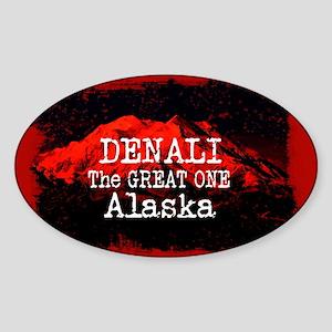 DENALI MOUNTAIN ALASKA RED Sticker