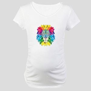 Rainbow Lion Maternity T-Shirt
