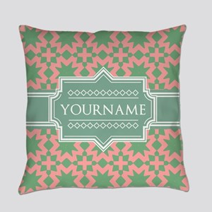 Pink Apple Green Pattern Personal Everyday Pillow