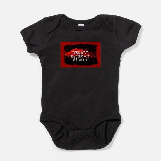 DENALI MOUNTAIN ALASKA RED Baby Bodysuit