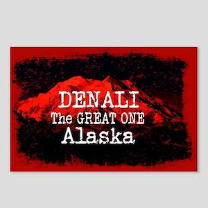 DENALI MOUNTAIN ALASKA RE Postcards (Package of 8)