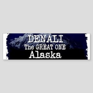 DENALI MOUNTAIN ALASKA BLUE Bumper Sticker