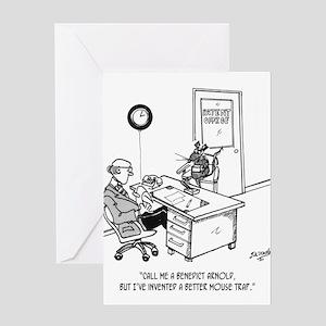 Inventor Cartoon 1932 Greeting Card