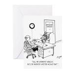 Inventor Cartoon 1932 Greeting Cards (Pk of 10)