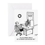 Inventor Cartoon 1932 Greeting Cards (Pk of 20)