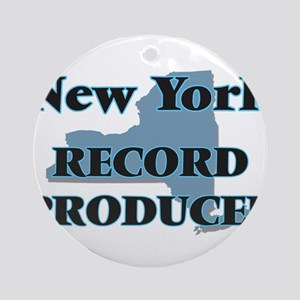 New York Record Producer Round Ornament