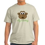 Silly Monkey Natural or Ash Grey Light T-Shirt