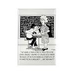 Math Class Cartoon 9478 Rectangle Magnet