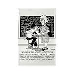 Math Class Cartoon 9478 Rectangle Magnet (10 pack)