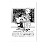 Math Class Cartoon 9478 Postcards (Package of 8)