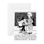 Math Class Cartoon 9478 Greeting Card