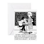 Math Class Cartoon 9478 Greeting Cards (Pk of 10)