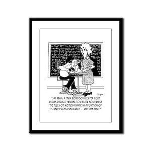 Math Class Cartoon 9478 Framed Panel Print