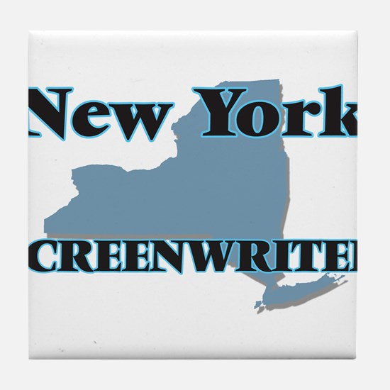 New York Screenwriter Tile Coaster