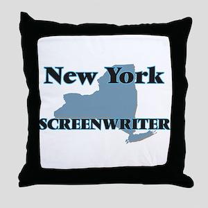 New York Screenwriter Throw Pillow