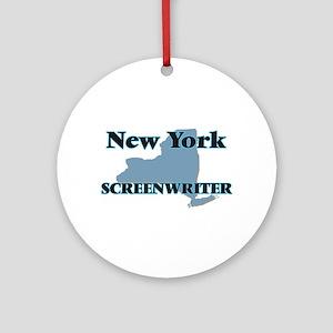 New York Screenwriter Round Ornament