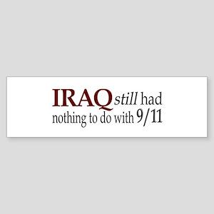 Iraq and 9/11 Bumper Sticker