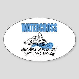 Watercross - Winter Oval Sticker