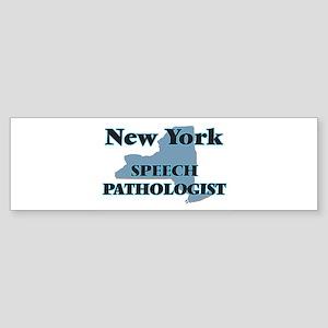 New York Speech Pathologist Bumper Sticker
