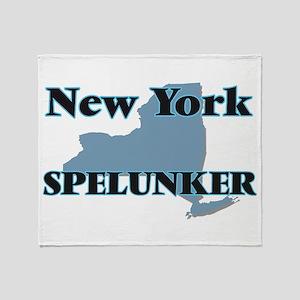 New York Spelunker Throw Blanket