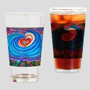 Ocean Lotus (floral bottom) Drinking Glass