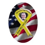 Photo Yellow Ribbon -Military Oval Ornament
