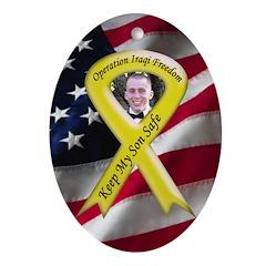 Photo Yellow Ribbon -Military Oval Ornament