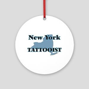 New York Tattooist Round Ornament