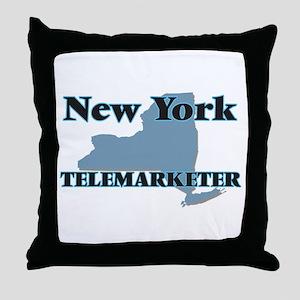 New York Telemarketer Throw Pillow