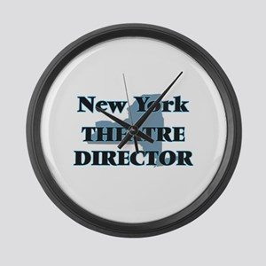New York Theatre Director Large Wall Clock