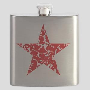 Red Star Vintage Flask