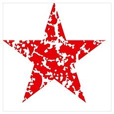 Red Star Vintage Poster