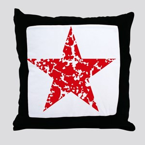 Red Star Vintage Throw Pillow