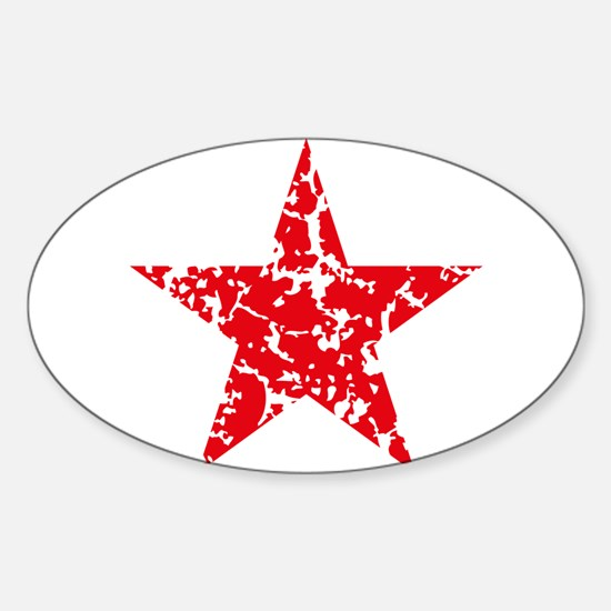 Red Star Vintage Decal