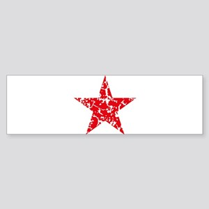Red Star Vintage Bumper Sticker