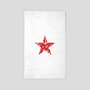 Red Star Vintage Area Rug