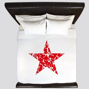 Red Star Vintage King Duvet