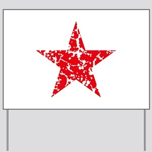 Red Star Vintage Yard Sign