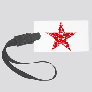 Red Star Vintage Large Luggage Tag