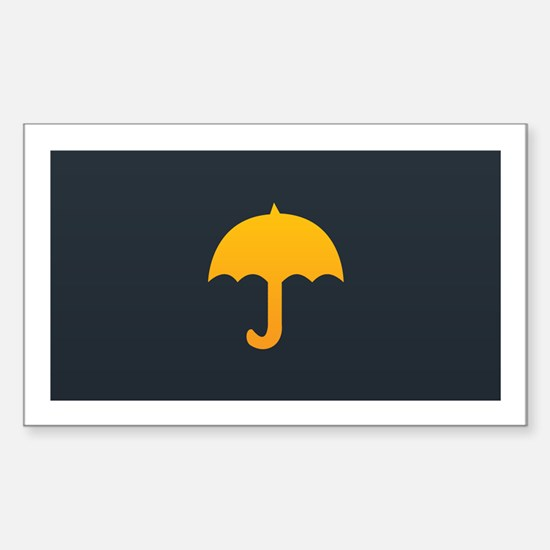 Cute Yellow Umbrella Sticker (Rectangle)