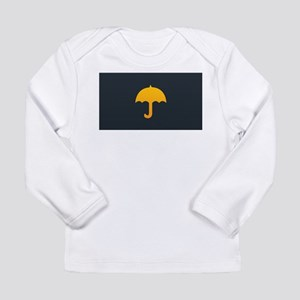 Cute Yellow Umbrella Long Sleeve Infant T-Shirt
