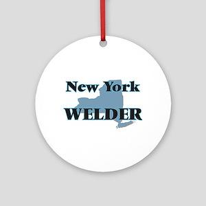 New York Welder Round Ornament