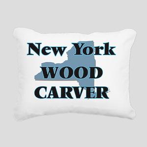 New York Wood Carver Rectangular Canvas Pillow