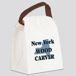 New York Wood Carver Canvas Lunch Bag